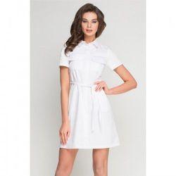 1062de13107bf8 Vena Sukienka medyczna sportivo biała