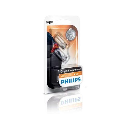 ZESTAW 2x Żarówka samochodowa Philips VISION 12961B2 W5W W2,1x9,5d/5W/12V (8711500404213)