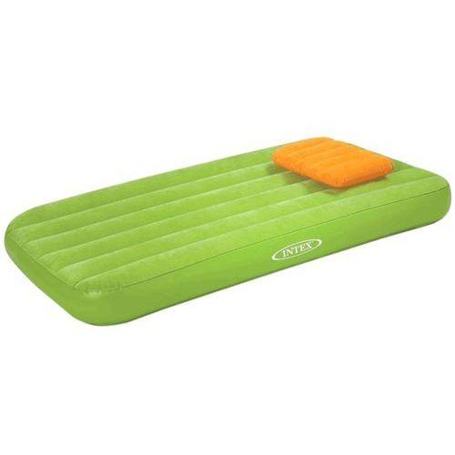 Materacyk welurowy dla dziecka z poduszką zielony 90 x 160 x 20 cm 66801 marki Intex