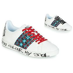 17f6b3fe8633b Trampki niskie Desigual SHOES_COSMIC_EXOTIC TROPICAL, kolor biały