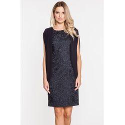 ed0c8ec943 Żarakardowa sukienka wieczorowa w czarnym kolorze - marki Potis   verso