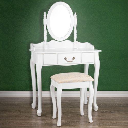 Jago Elegancka toaletka kosmetyczna+taboret05