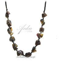 b6c32d2b06f022 Naszyjnik z naturalnym kolorowym bursztynem- biżuteria artystyczna- UNIKAT
