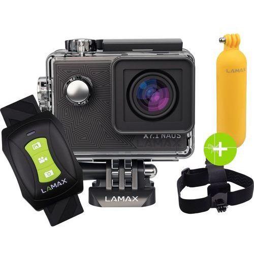 Lamax Kamera sportowa x7.1 naos + akcesoria + karta pamięci kingston 32gb class10 u3 ★★★ zobacz zestawy specjalne ★★★