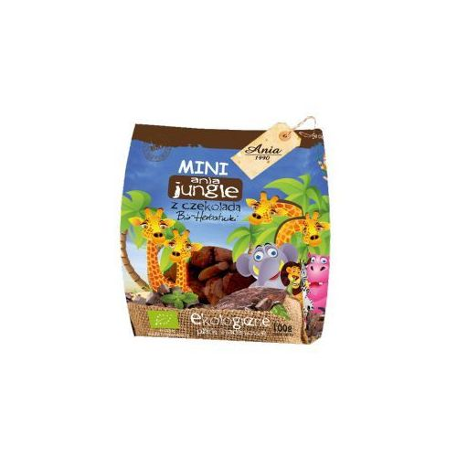 Herbatniki mini jungle z czekoladą bio 100 g ania marki Holle