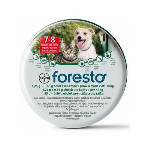 Foresto obroża przeciw pchłom i kleszczom dla psów i kotów o wadze do 8kg [ marki Bayer