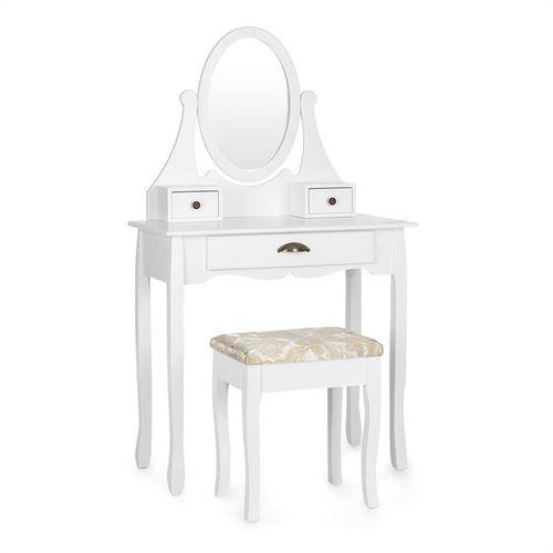 Oneconcept miss lenore toaletka lustro obrotowe 3 szuflady białe