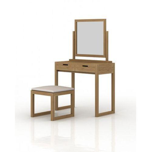 Signu Design Zestaw kosmetyczny - konsola z lustrem i taboretem Linea