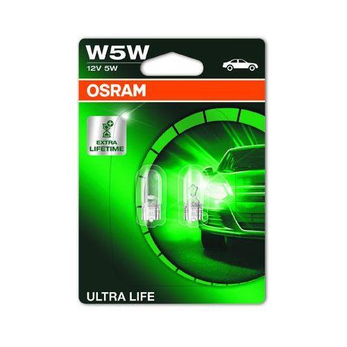 Osram w5w 12v 5w w2,1x9,5d ultra life® (do 3 razy dłuższa trwałość) (4052899419346)