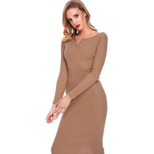 Sukienka amabel w kolorze camelowym marki Sugarfree
