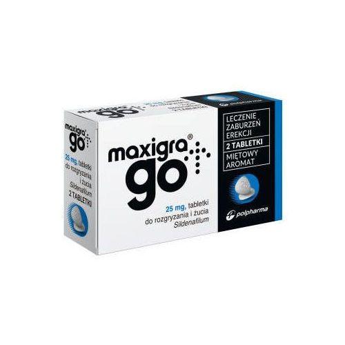 Maxigra Go 25mg x 2 tabletki do rozgryzania i żucia