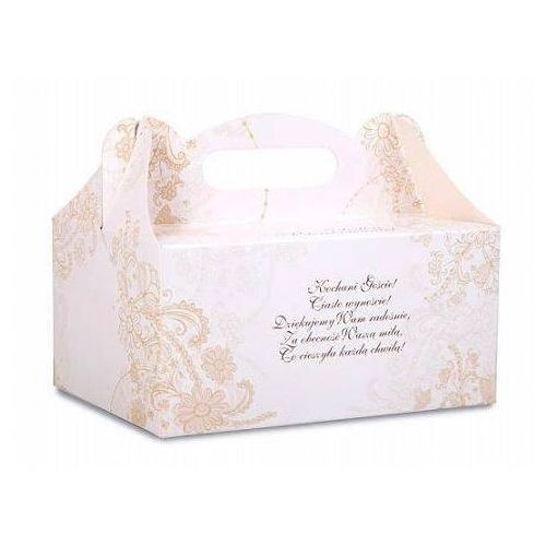 Ozdobne pudełko na ciasto weselne 1sztuka marki Ap