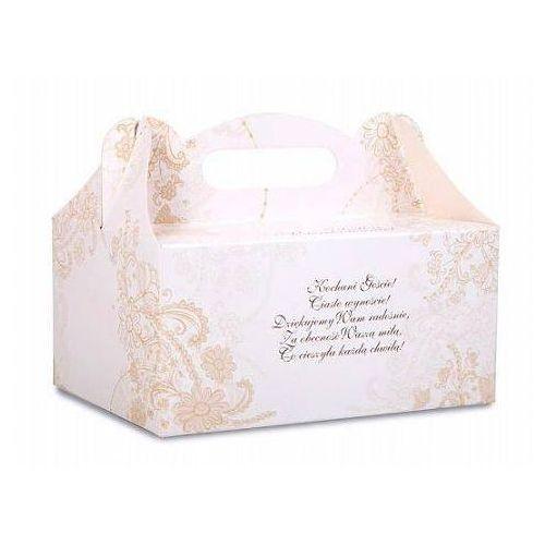 Ozdobne pudełko na ciasto weselne 1sztuka marki Party deco