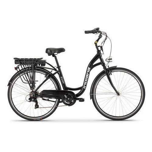 Rower elektryczny INDIANA E-City D18 Czarny + Zamów z DOSTAWĄ W PONIEDZIAŁEK! + DARMOWY TRANSPORT! (5902596717780)
