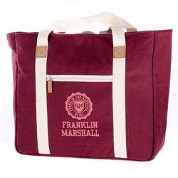 torba FRANKLIN & MARSHALL - Classic shopper - bordeaux solid (30) rozmiar: OS