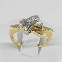 Złoty pierścionek z diamentem P1456, kolor żółty