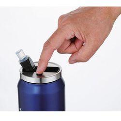 Kubek izolowany ze słomką lattina cilio 0,5 litra, granatowy (ci-543803)