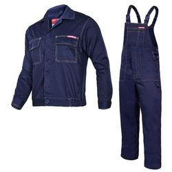 Komplet ubrań roboczych bluza, ogrodniczki 3XL (194/126-130) Granatowe