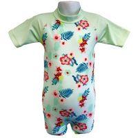 Stroje kąpielowe dla dzieci, Strój kąpielowy kombinezon dzieci 76cm filtr UV50+ - Mint Floral \ 76cm