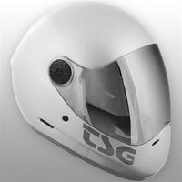 Ochraniacze na ciało, kask TSG - pass solid color (extra transparent visor) silver (334) rozmiar: L