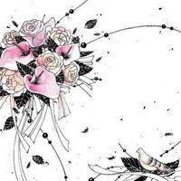 Pozostałe artykuły szkolne, Karnet Swarovski kwadrat CL2508_BL Bukiet kwiatów