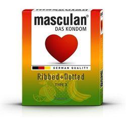 Kolorowe prezerwatywy Masculan Special Edition 3 szt., Kolor: Mieszany
