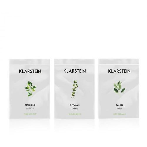 Nasiona, Klarstein Growlt Seeds Europe | 3 paczki nasion: tymianek / szałwia / pietruszka