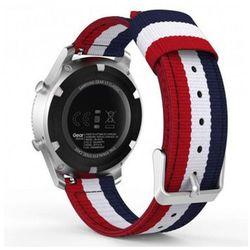 Pasek Welling nylon Samsung Gear S3 czerwono biało granatowy - Czerwony ||Biały ||Granatowy
