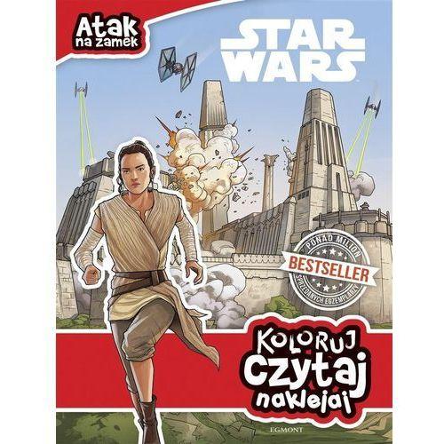 Książki dla dzieci, Koloruj, czytaj, naklejaj. Gwiezdne Wojny. Atak... (opr. broszurowa)