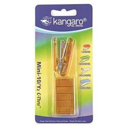 Zszywacz KANGARO Mini-10/Y2 C-THRU+zszywki zszywa do 10 kartek blister żółty