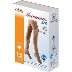 Aries AVICENUM 520 zdrowotne udowe samonośne pończochy z lamówką