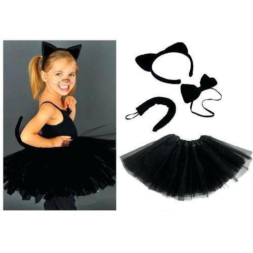 Kostiumy dla dzieci, Zestaw Kotek Czarny ze spódniczką