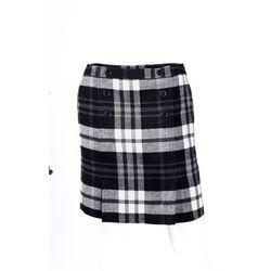 Spódnica w kratę bonprix czarno-biały w kratę