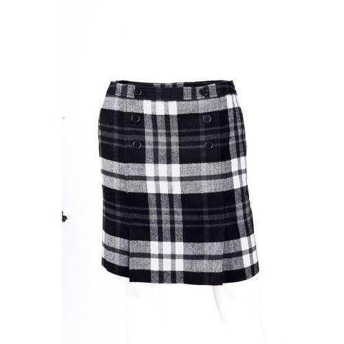 Spódnice, Spódnica w kratę bonprix czarno-biały w kratę