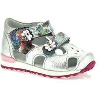 Sandały dziecięce, Sandały dla dzieci Kornecki 06160 - Srebrny ||Kolorowy