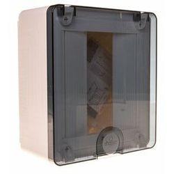 Rozdzielnica, rozdzielnia elektryczna 8 modułów natynkowa tworzywo, drzwi transparentne HAGER VS108TD