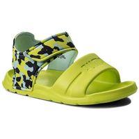 Sandały dziecięce, Sandały PUMA - Wild Sandal Injex Camo PS 365081 01 Peacoat/Limepunch