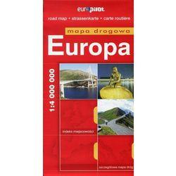 Europa. Mapa Droga W Skali 1:4 000 000 (opr. miękka)