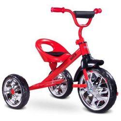 Solidny metalowy rowerek gumowe koła Toyz York RED