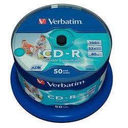 Płyta CD-R Verbatim 700MB Cake 50szt. - do nadruku