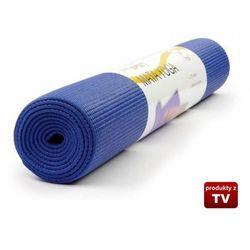 Mata do ćwiczeń Jogi - Yoga Fitness - Niebieska