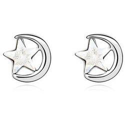 EXCLUSIVE Kolczyki z księżycem srebrne - SREBRNE