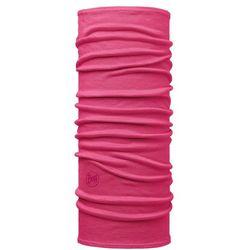 Buff Lightweight Merino Wool Komin Dzieci, solid pink 2019 Chusty wielofunkcyjne Przy złożeniu zamówienia do godziny 16 ( od Pon. do Pt., wszystkie metody płatności z wyjątkiem przelewu bankowego), wysyłka odbędzie się tego samego dnia.