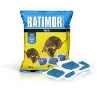 Środki na szkodniki, 150g Niebieska trutka na szczury, myszy pasta Ratimor brodifakum.