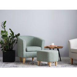 Fotel z podnóżkiem zielony HOLDEN