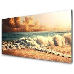 Panel Szklany Ocean Plaża Fale Krajobraz