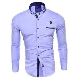 Koszula męska długi rękaw rl08 - błękitny