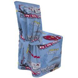 Dekoria Sukienka na krzesło, samochody na niebieskim tle, 45x94 cm, Freestyle do -30%