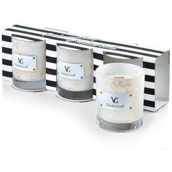 CRISTIE MINI Wkład biały marmur kpl. 3 świec