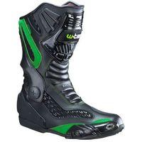 Buty motocyklowe, Skórzane buty motocyklowe W-TEC NF-6003, Zielony, 41